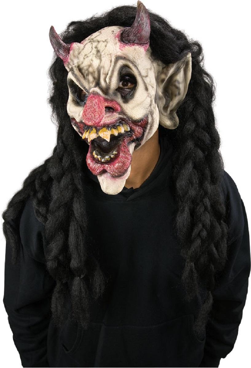 Scary Horror Clown Demonic Demon Jester Costume Halloween Makeup ...