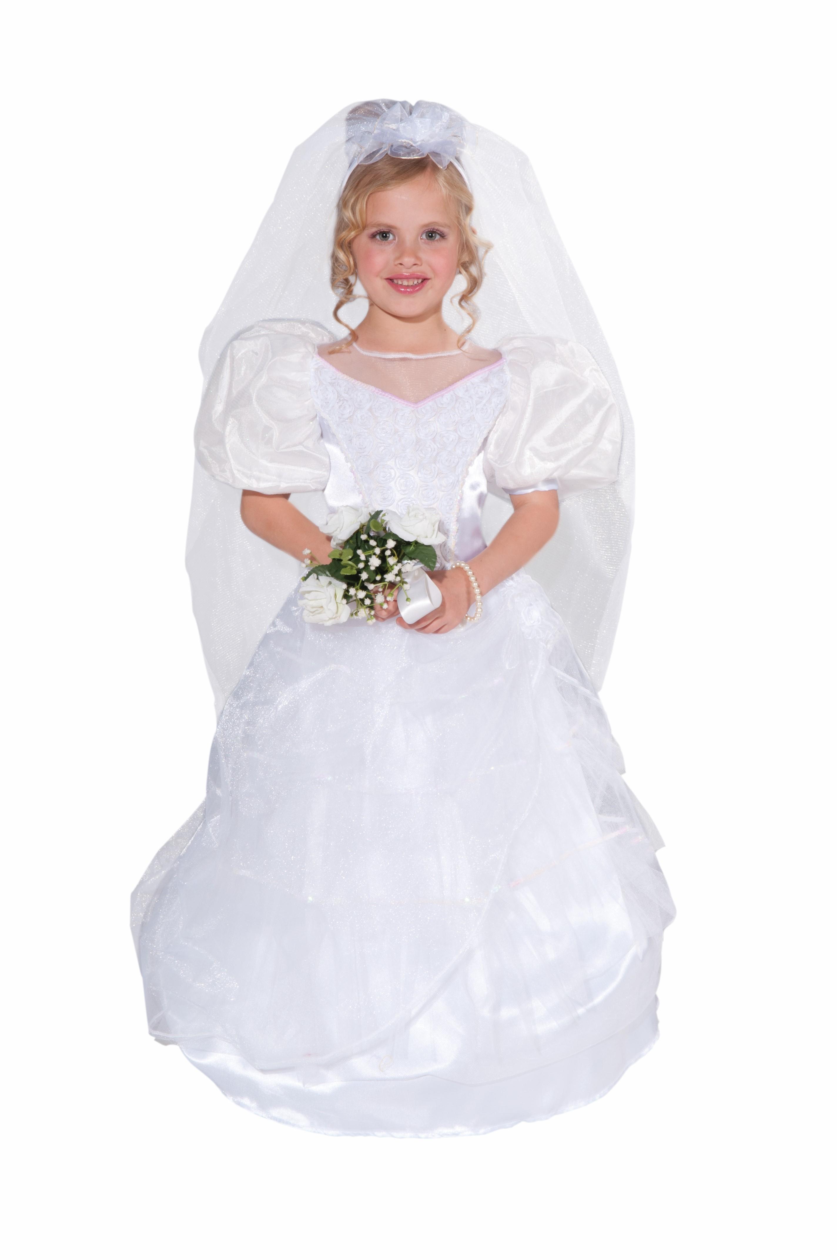 Bride White Wedding First Dance With Daddy Dress Child Girls