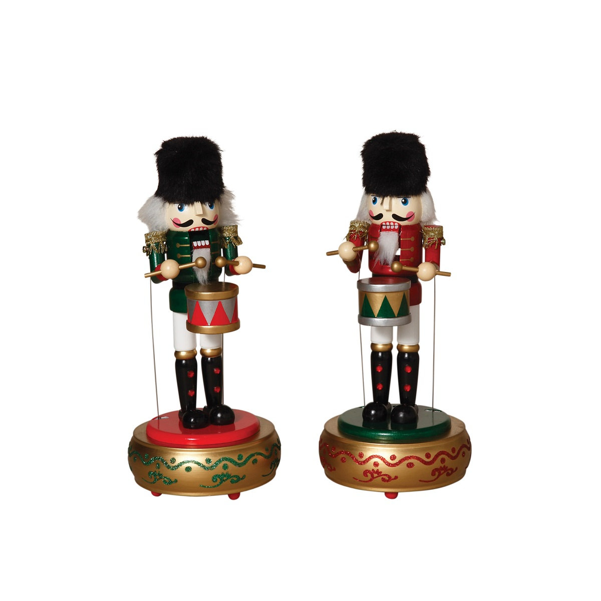 Windup Musical Moving Nutcrackers Christmas Collectible Figurines ...
