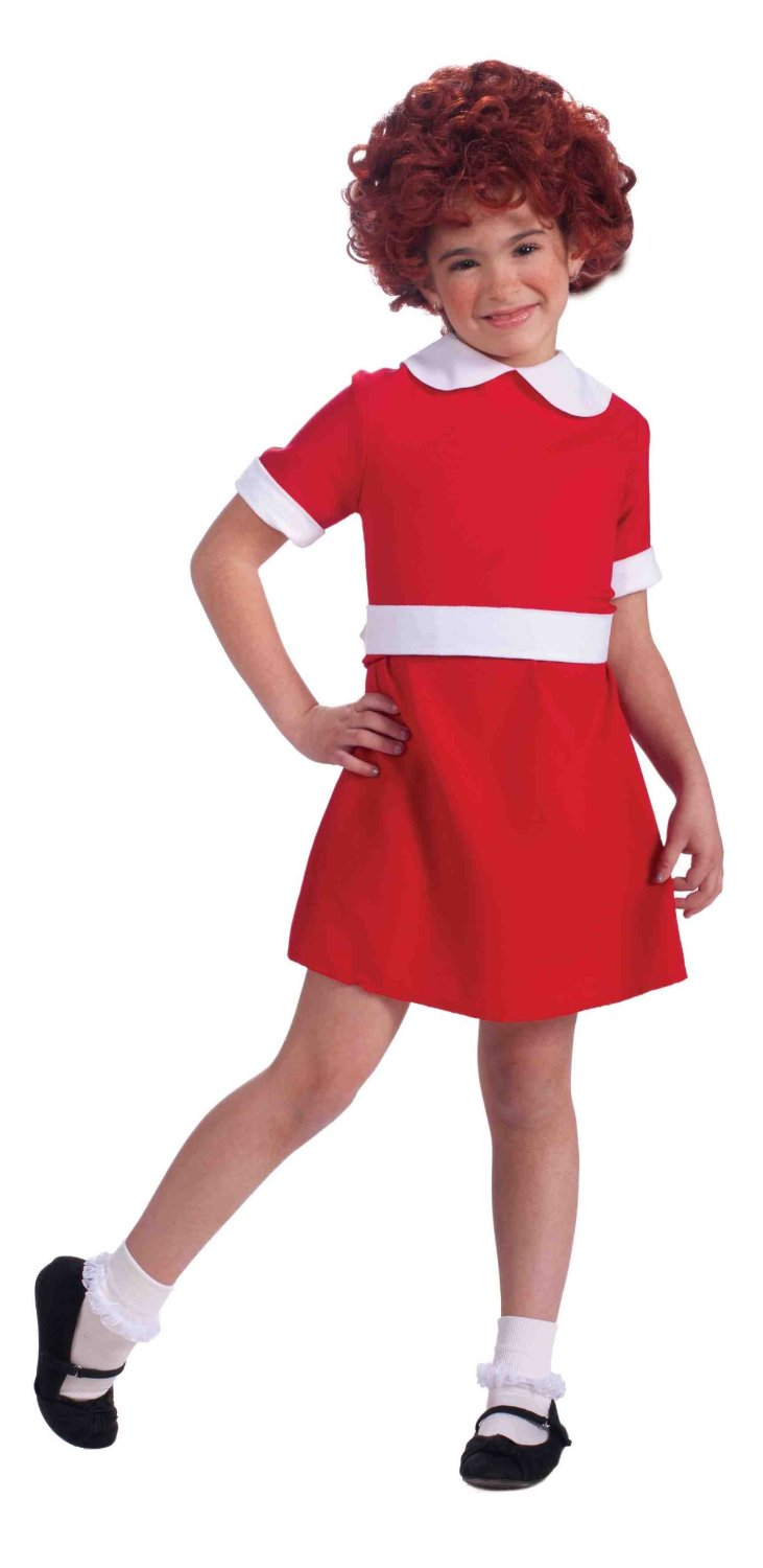 Little Orphan Annie The Musical Red Dress Cute Halloween Child Girls Costume  sc 1 st  eBay : cute halloween girl costumes  - Germanpascual.Com