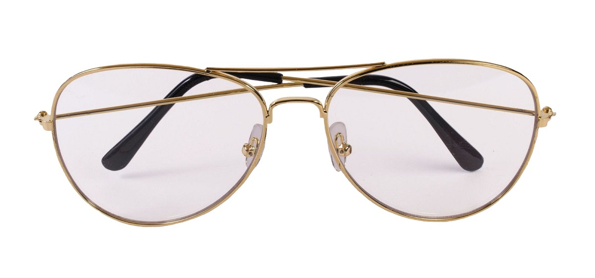 e39be9bc69 Details about Old Man Gold Wire Glasses Fun Nerd Classic Clear Lenses Adult  Aviator Accessory