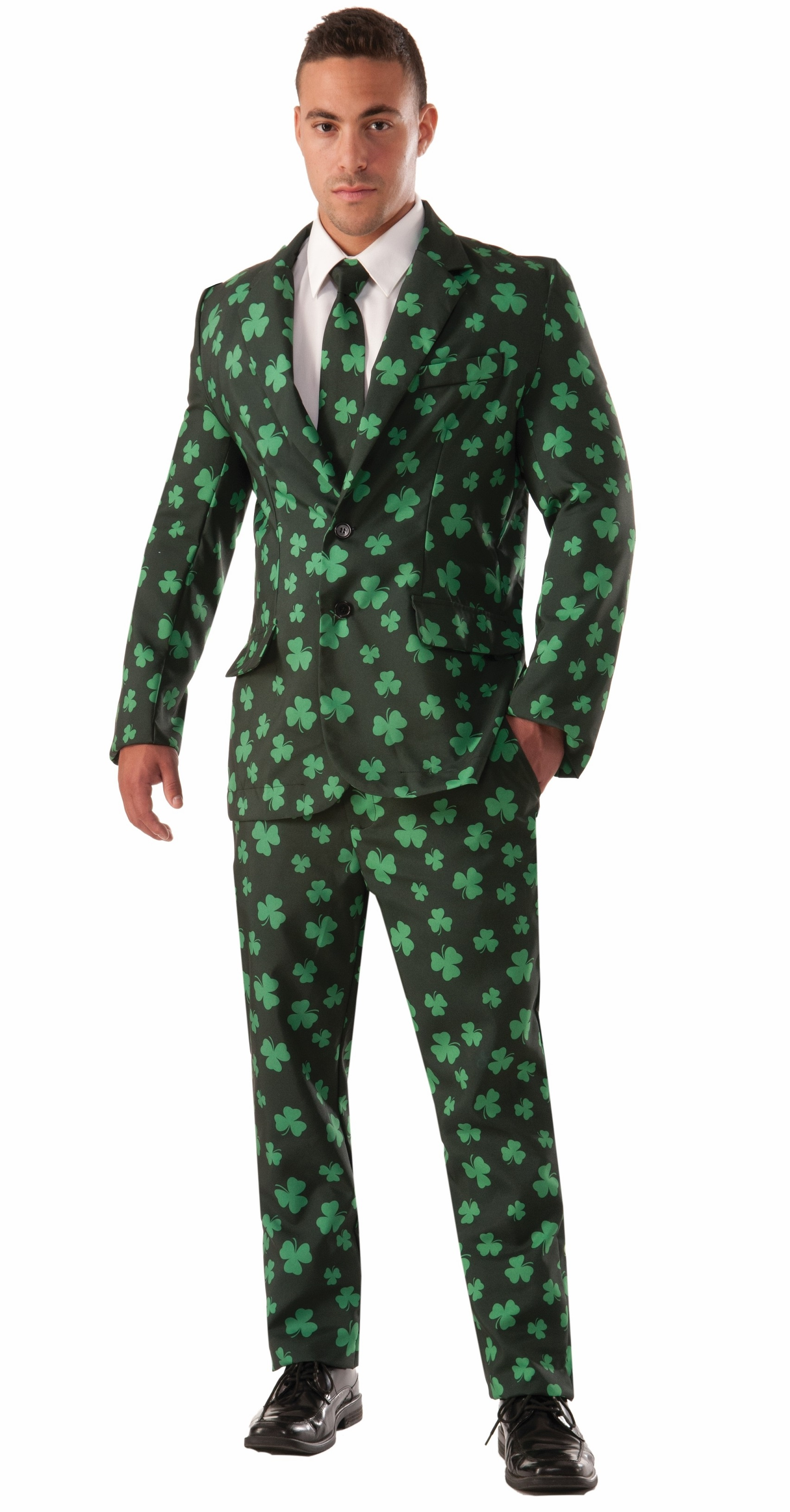 76c06a2cee535e Details about Shamrock Suit St Patricks Patrick'S Day Green Irish Tie  Leprechaun Mens Costume