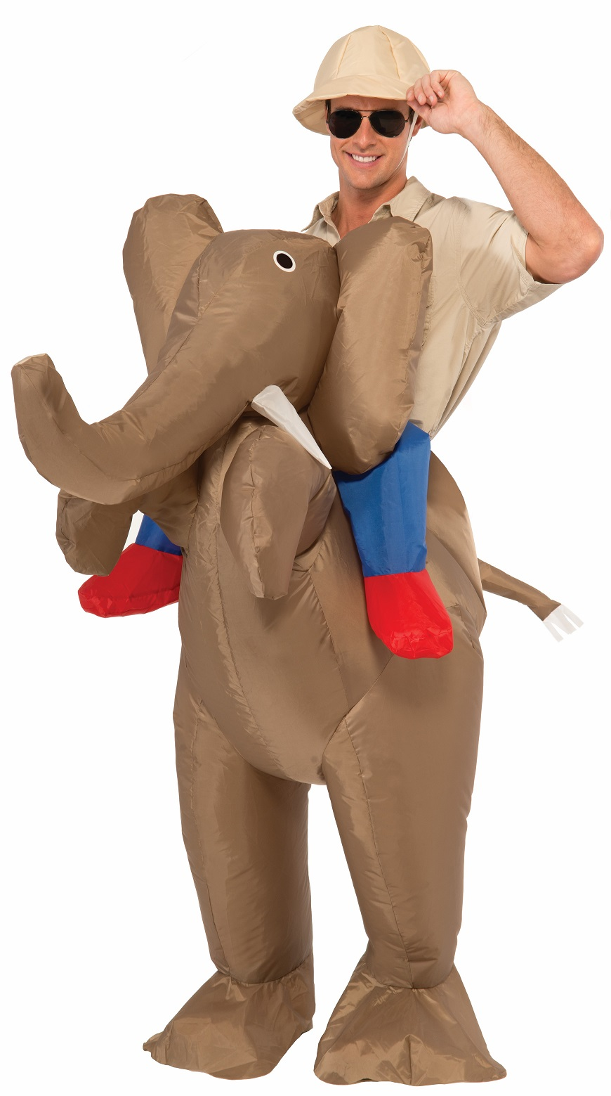 inflatable safari ride an elephant animal rider funny adult