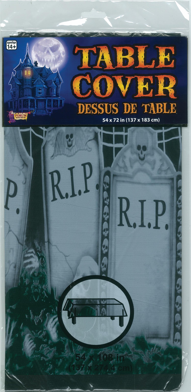 "Halloween Decoration Plastic Cover Graveyard Table Cloth-54"""