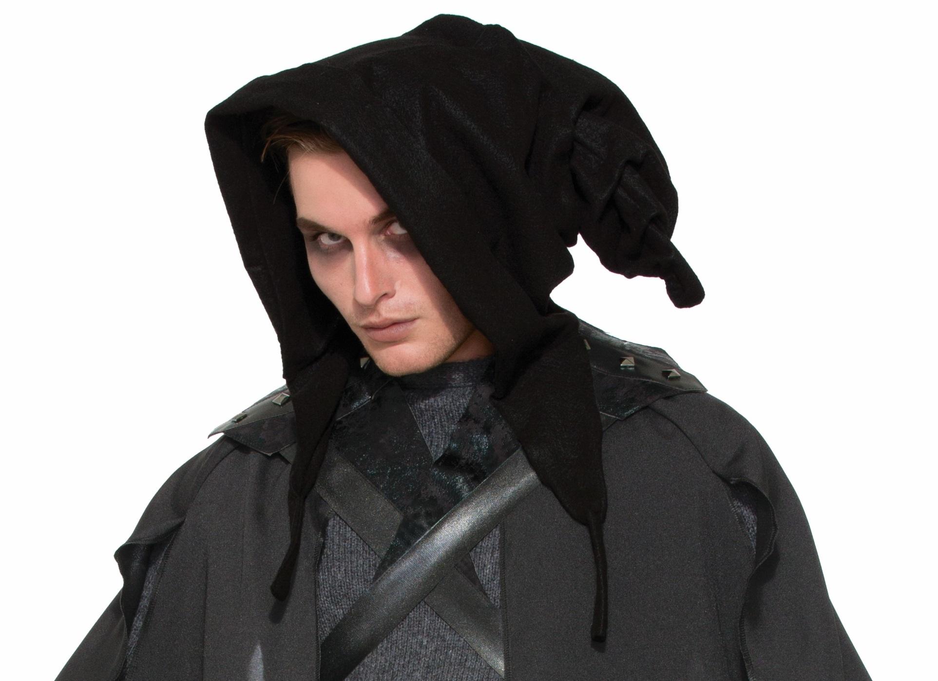 Warlock Cowl Hood Witch Wizard Medieval Fancy Dress Halloween ...