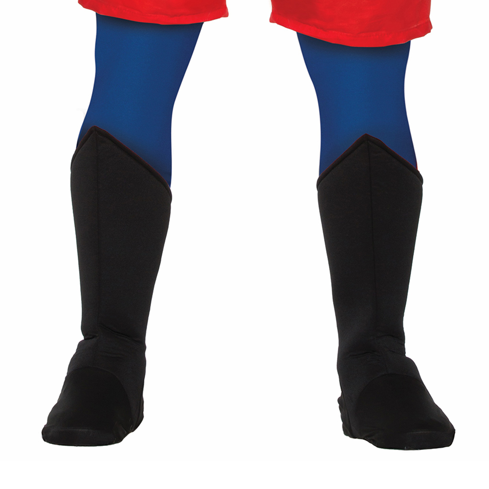 Adult Superhero Shoe Covers Boot Tops Blue Unisex Costume Accessory MED