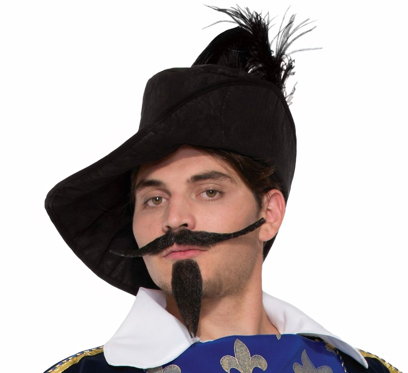 fake beard and mustache musketeer facial hair faux halloween costume