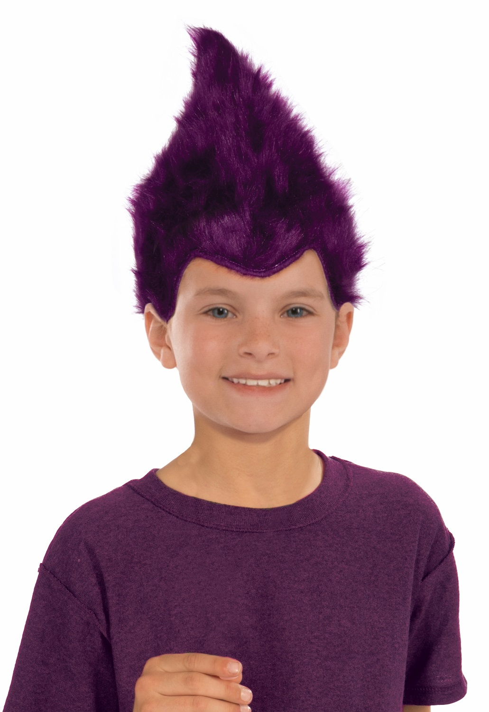 Unisex Child's Size Furry Elf Wig Fuzzy Troll Wig Pixie ...