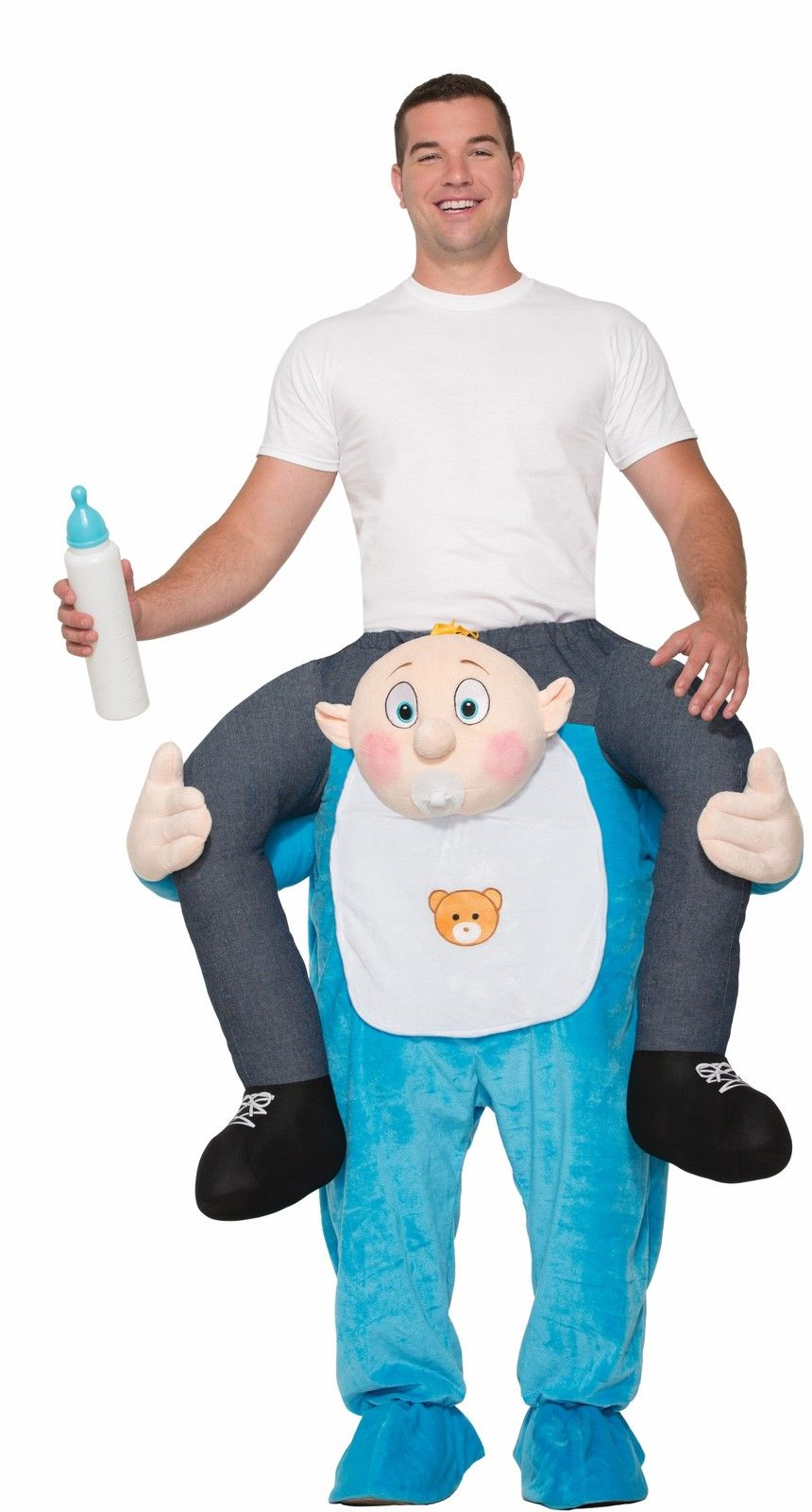 Carry Me Buddy Ride On A Baby Costume Adult Size Piggy Back Piggyback Ride  sc 1 st  eBay & Carry Me Buddy Ride On A Baby Costume Adult Size Piggy Back ...