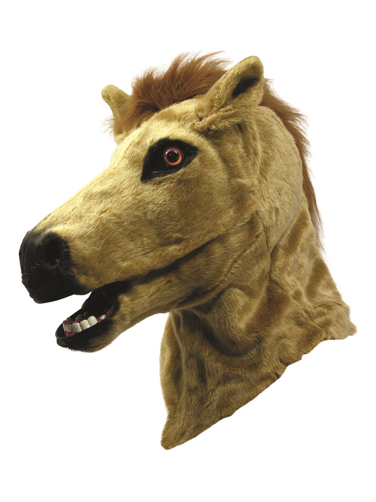 adult sized moving mouth horse mask with neck halloween costume accessory