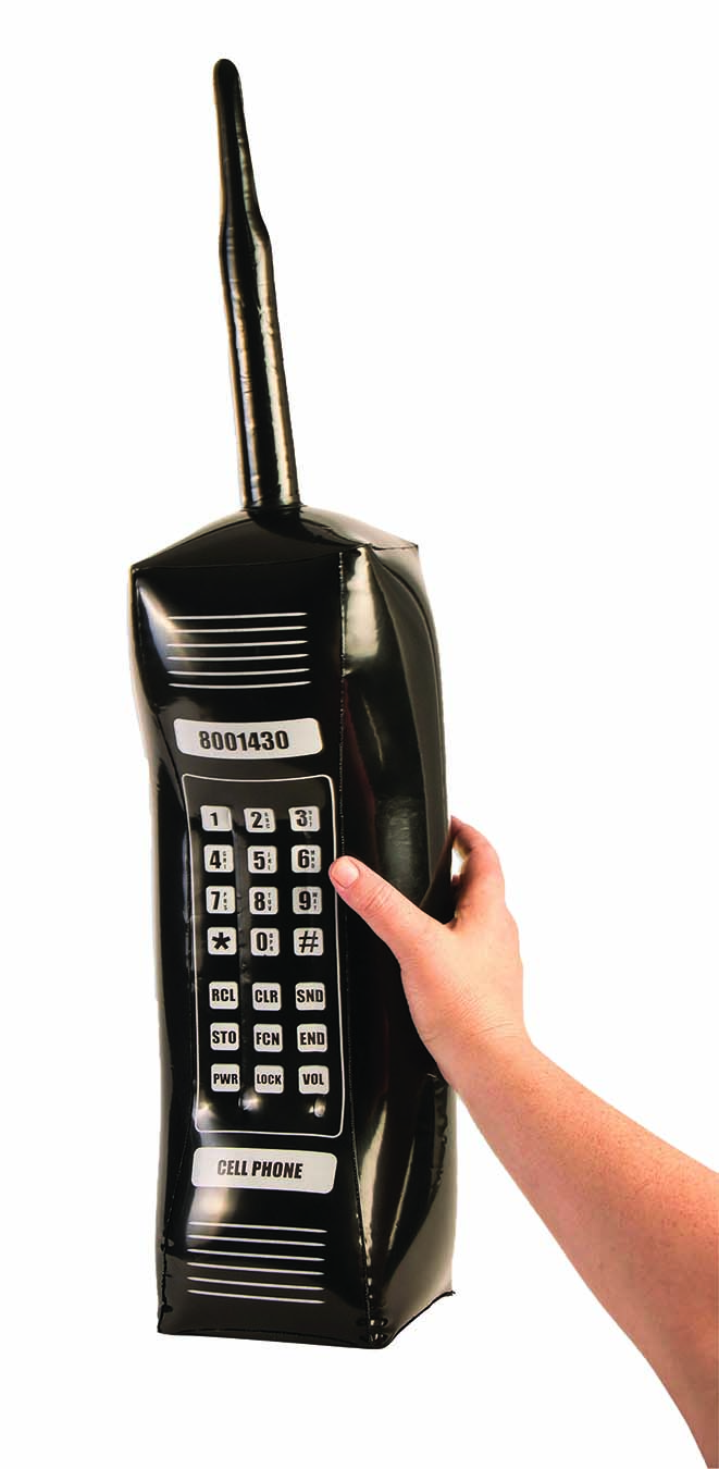 Black Smiffys Inflatable Retro Mobile Phone Unisex