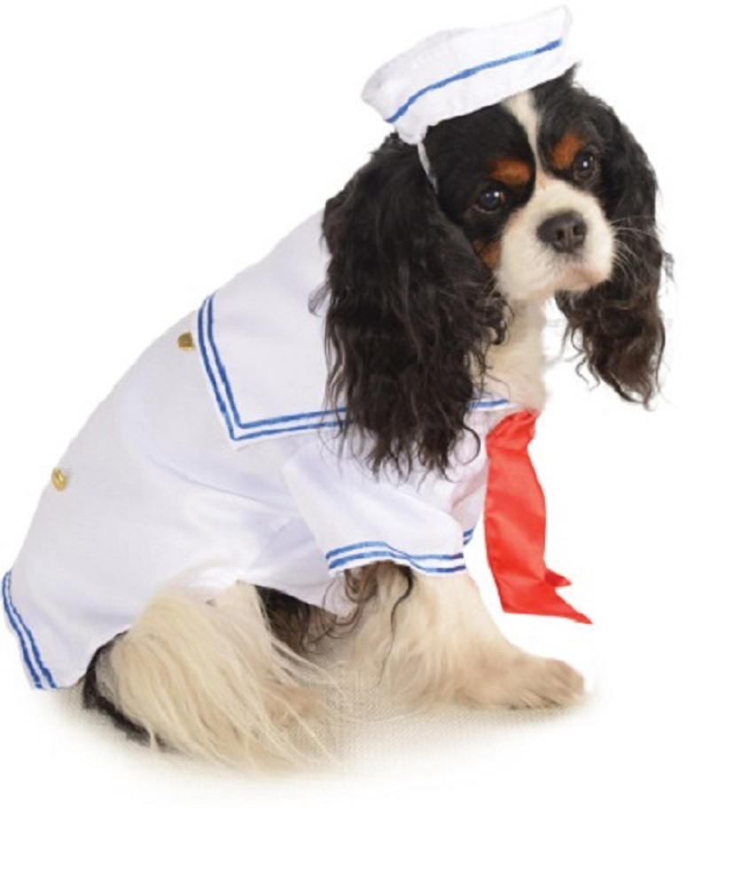 sailor boy navy admiral pet dog clothing accessory halloween costume sized new