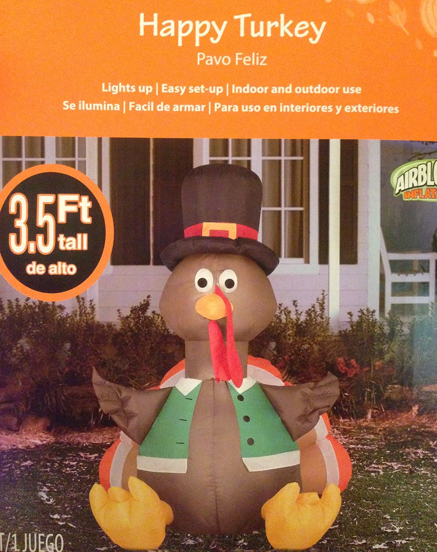 Quot gemmy airblown inflatable thanksgiving pilgrim hat