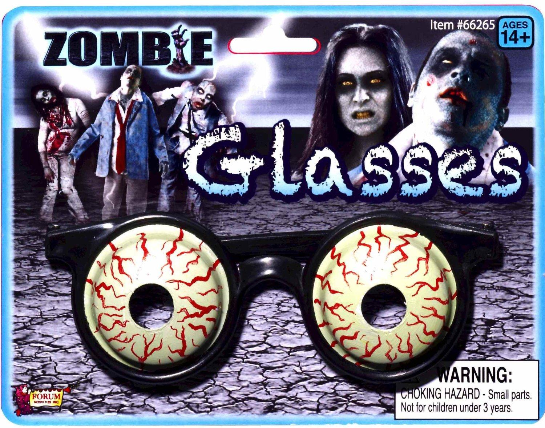 6f285b987d9 Details about Zombie Glasses Eye 3-D Adult Costume Accessory Eyewear Eye  Wear Halloween