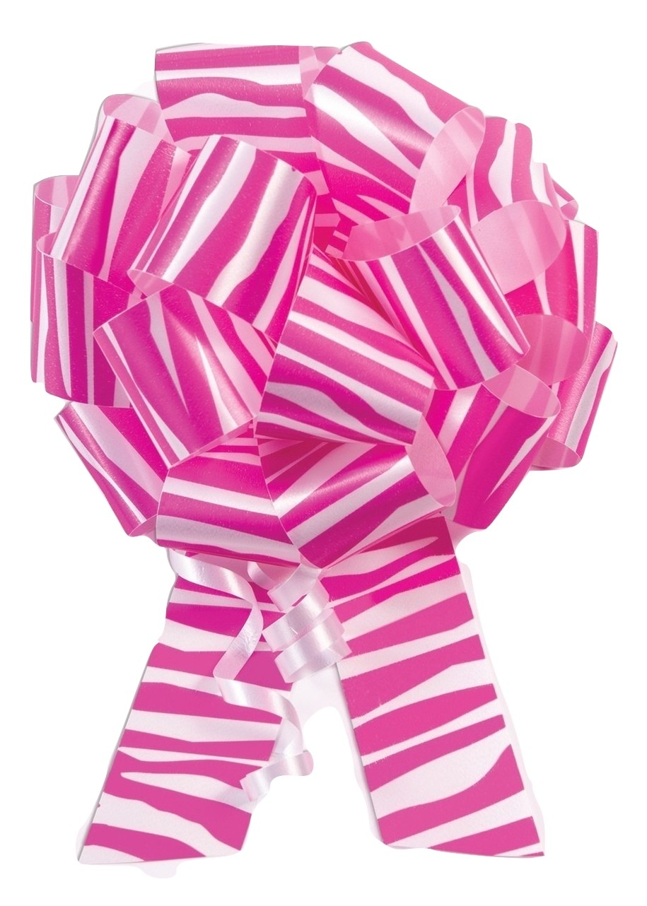 10 5 Pink Zebra Print Pull Bow Pew Bows Wedding Decorations Christmas Gift Wrap