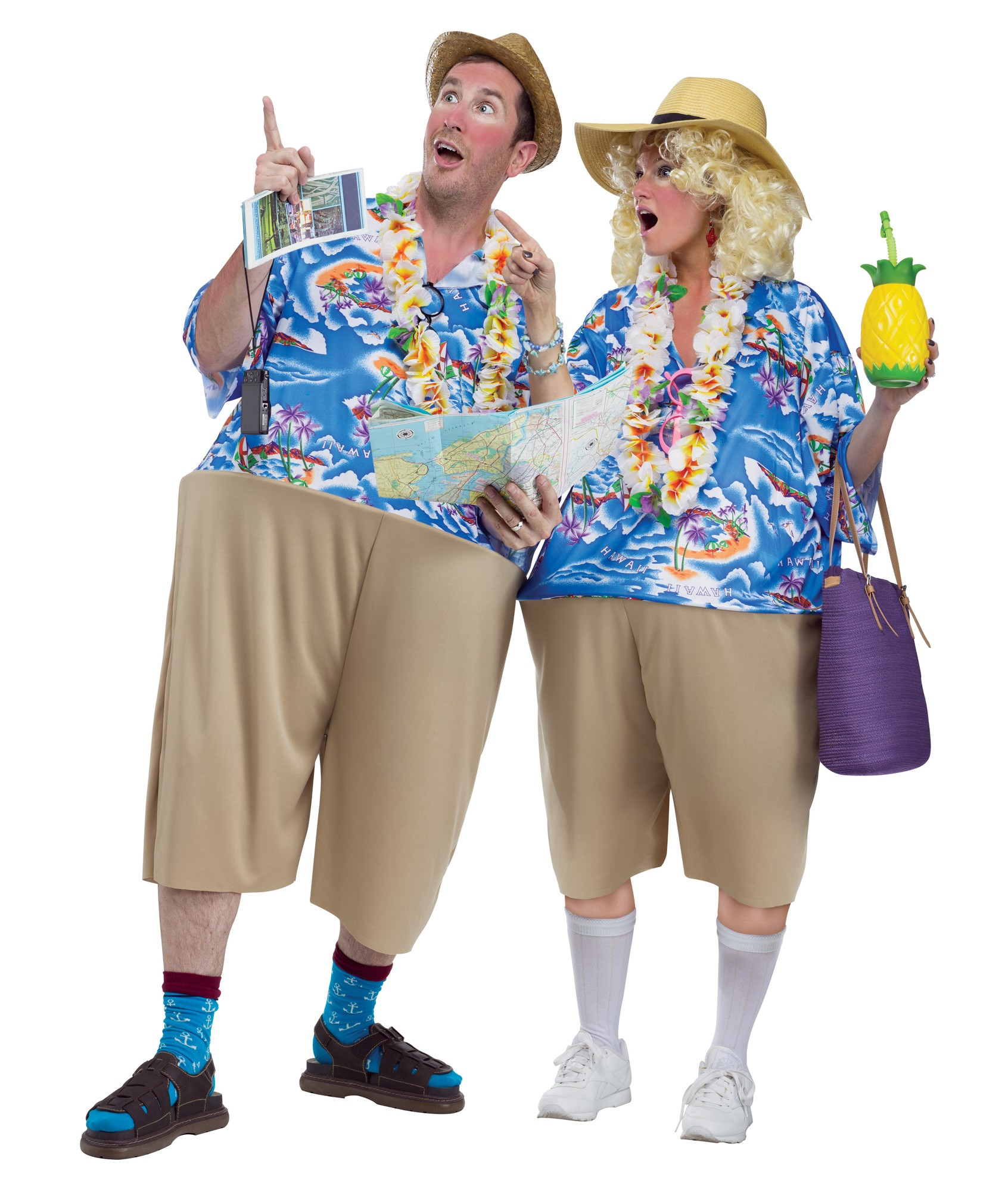Adult Humor Unisex Couples Tacky Traveler Tourist Funny Fat Halloween Costume  sc 1 st  eBay & Adult Humor Unisex Couples Tacky Traveler Tourist Funny Fat ...