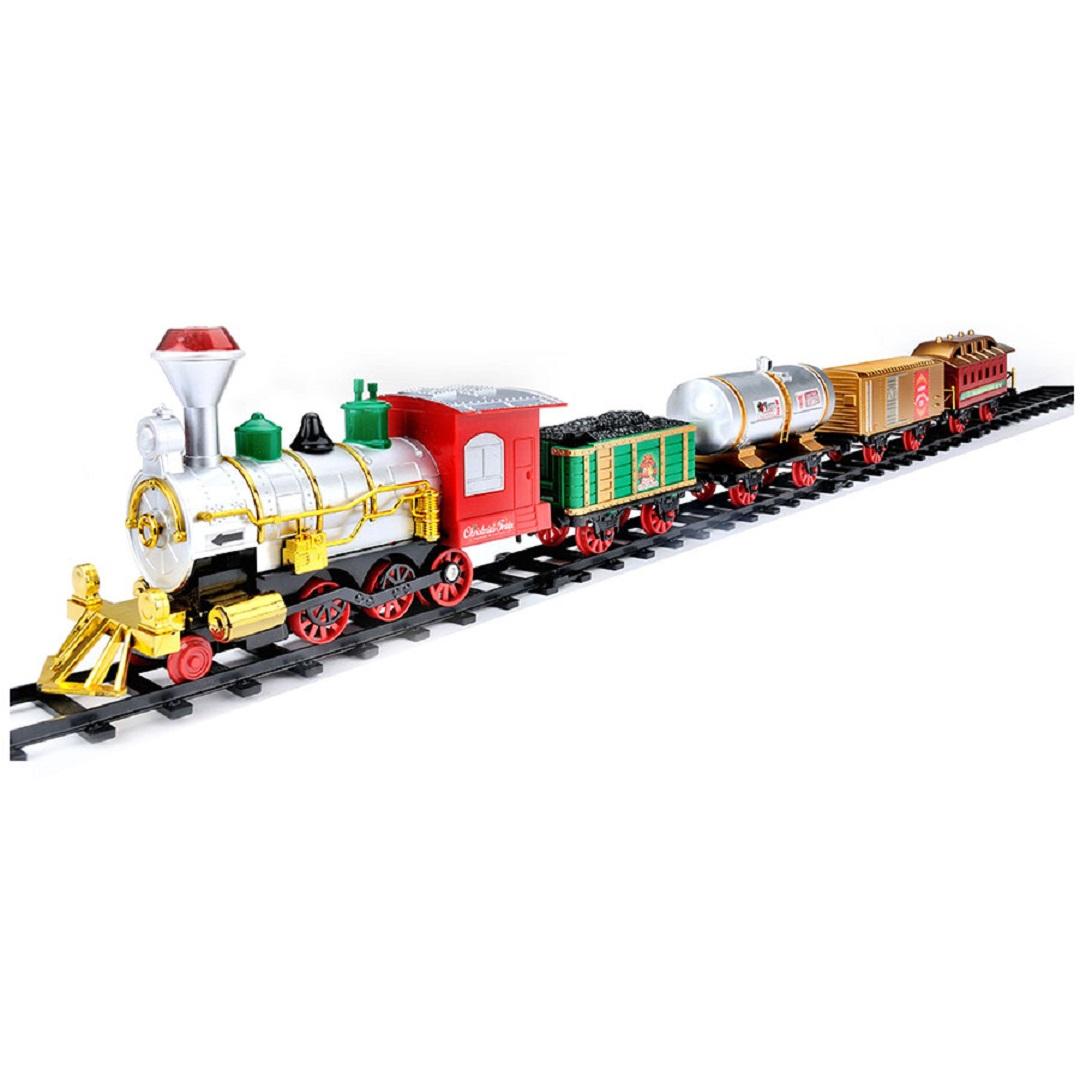 Jumbo Classic Christmas Tree Train Set Toy Smoke Lights Sound ...