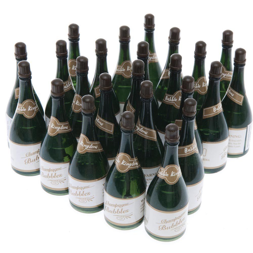 24 Mini Champagne Bottles Wedding Bubbles New Years Eve Graduation