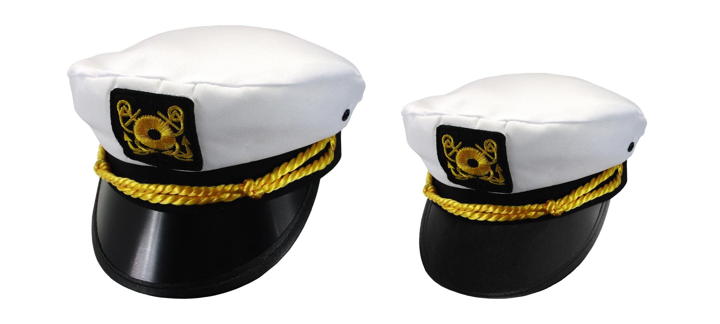 114c024edbd Adult Child Mens Womens Couples Ship Yacht Sea Skipper Boat Captain Hat Cap  Set