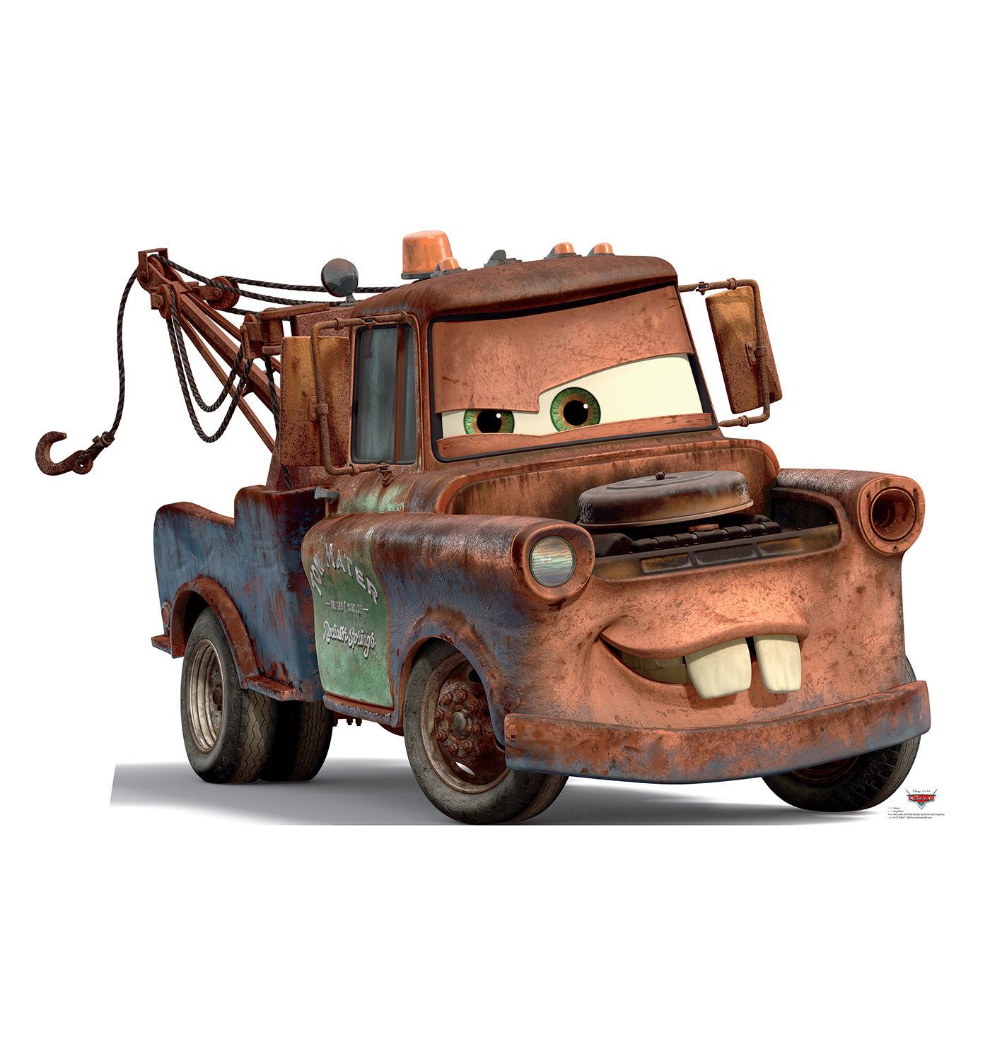Mater Tow Truck Disney Cars Standup Standee Cardboard Cutout Poster