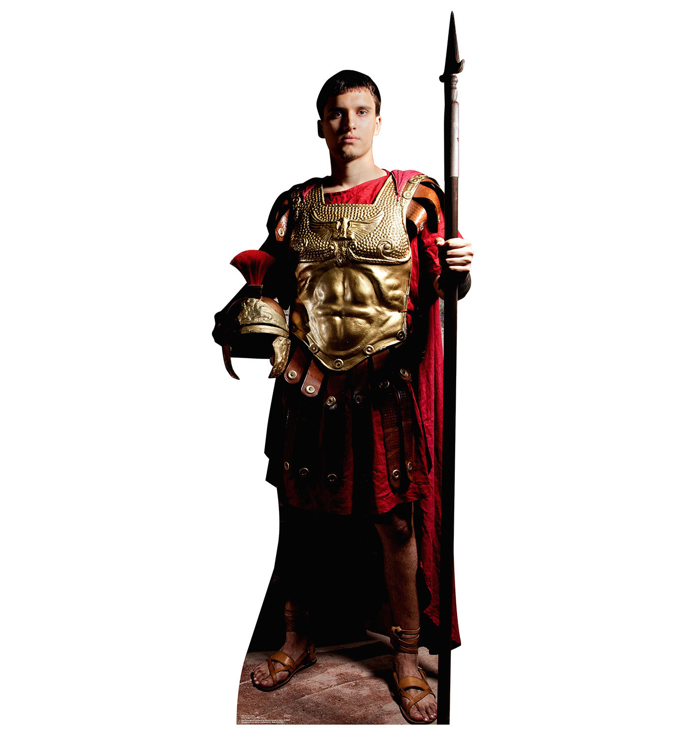 roman soldier gladiator greek toga party standup standee cardboard