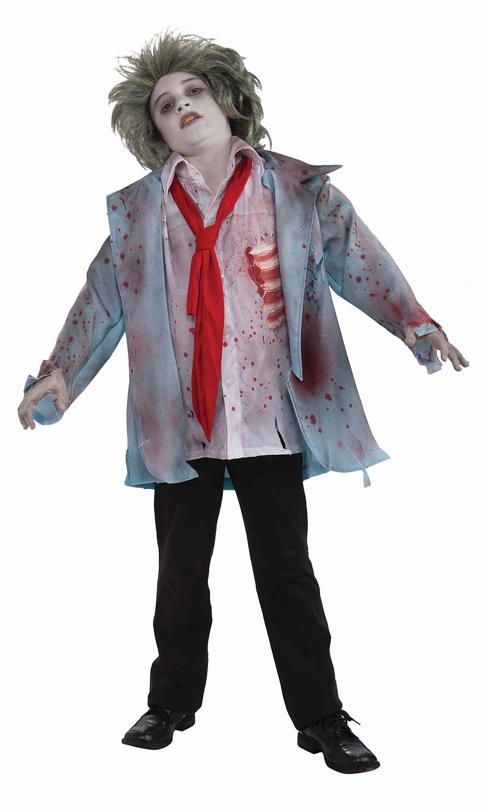 zombie boy jacket gory scary bloody fiction child boys horror