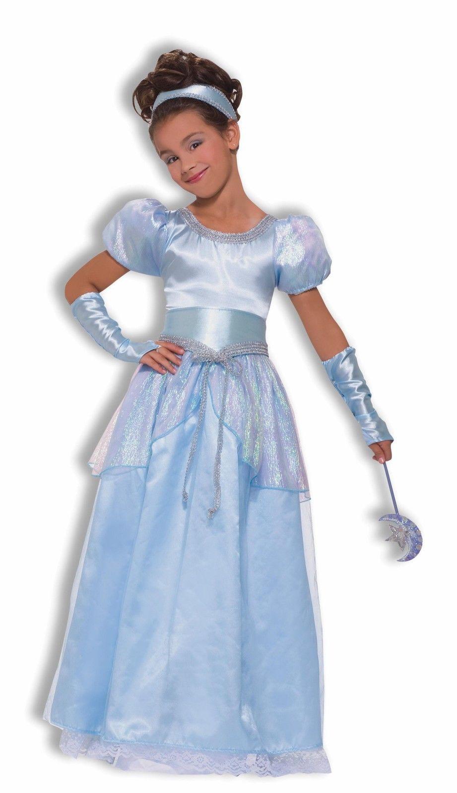 Halloween Kleider Fur Kinder.Details Zu Prinzessin Cinderella Blau Ballkleid Kleid Kinder Madchen Halloween Kostum