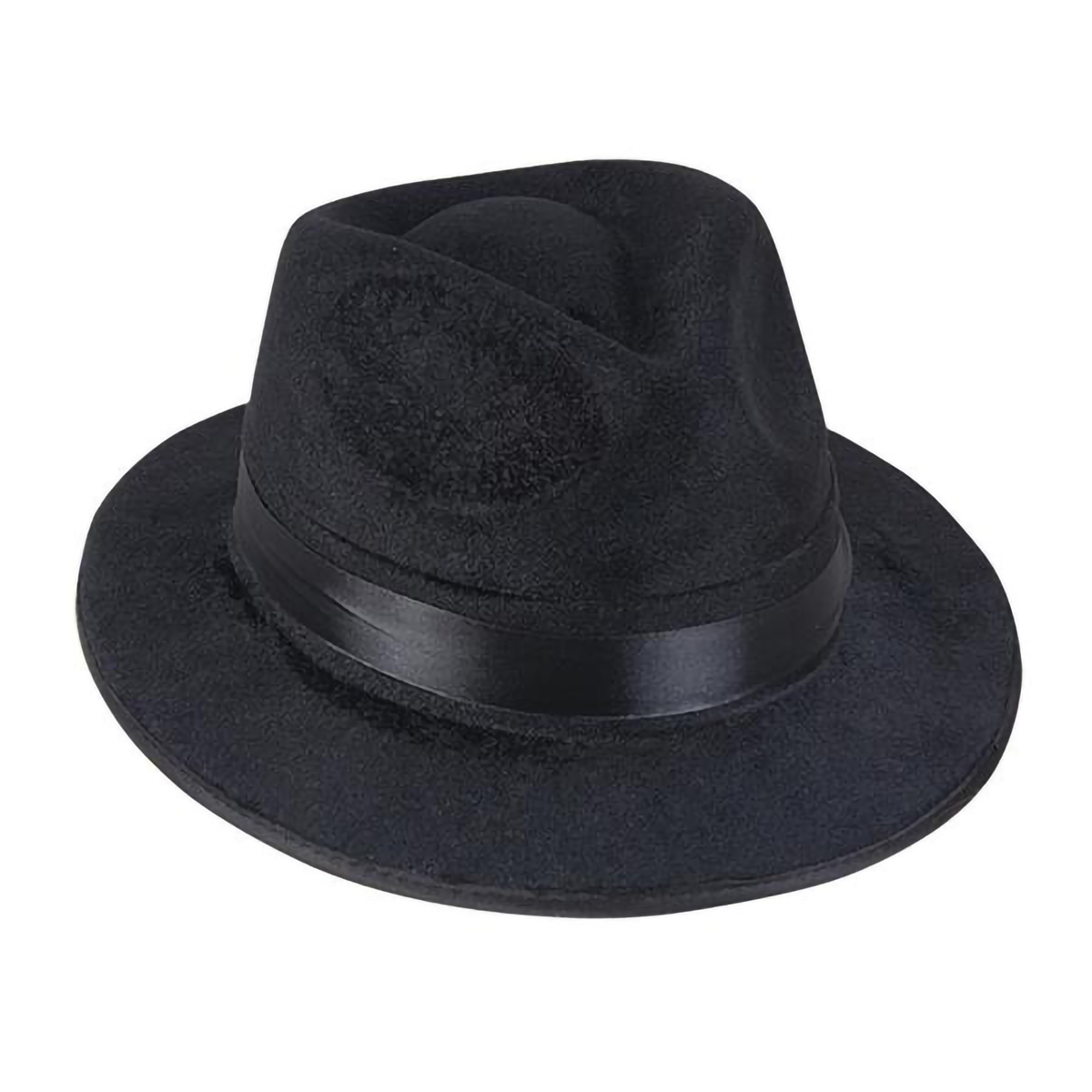 Details about Black Fedora Hat For Men Gangster Al Capone Blues Brother  Costume Accessory 41a79c1fc5c
