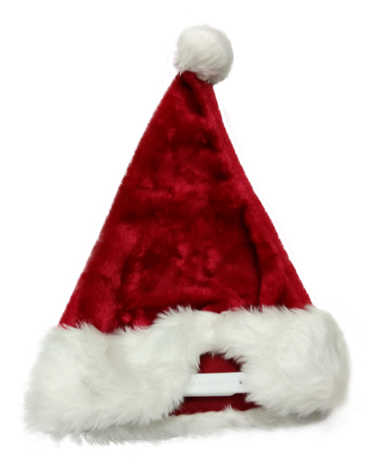 Santa Hat Snapback With Faux Fur Trim Border and Puffy Ball Red Dark ... 5b6abda4cfb