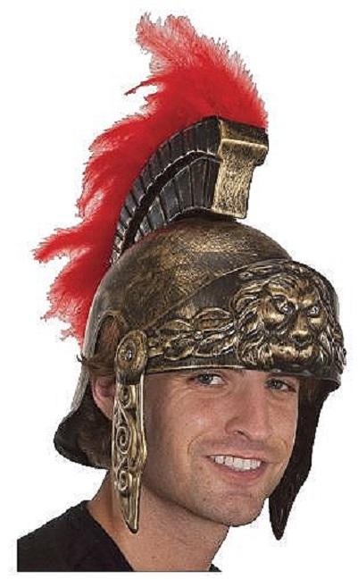 Stock photo  sc 1 st  eBay & Roman Greek Soldier Army Helmet Hat Adult Halloween Costume | eBay