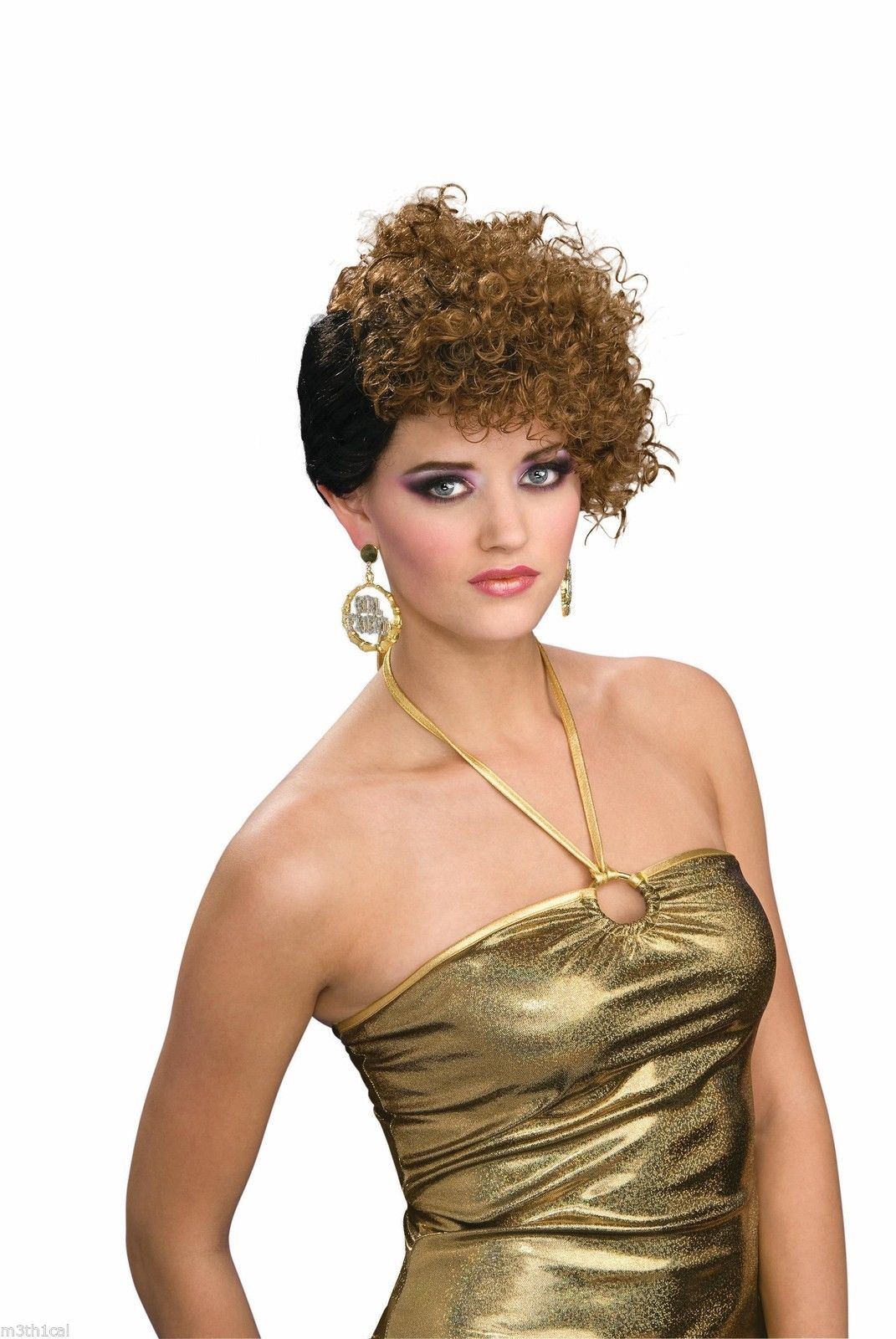 Hip Hop 80 S Style Home Girl Curly Curl Wig Hair Halloween Costume
