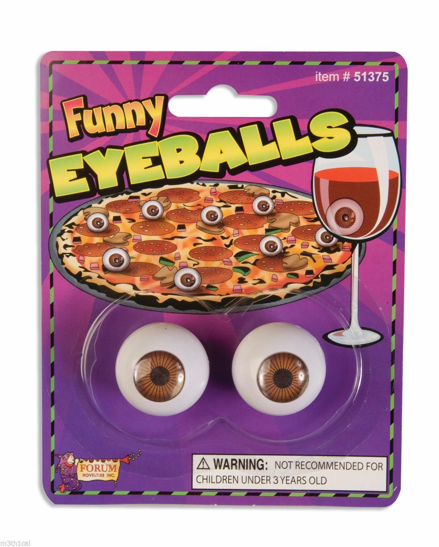 Realistic Eye Balls Gag Gift Funny Toy Prop Ball Eyes Eyeballs Joke Novelty Pair