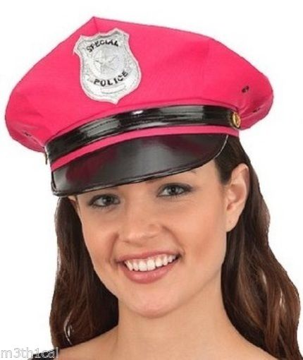 Womens-Sexy-Hot-Police-Hat-Costume-Officer-Policeman-  sc 1 st  eBay & Womens Sexy Hot Police Hat Costume Officer Policeman Police Man Cop ...