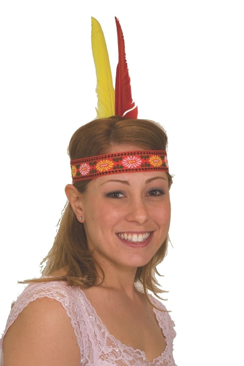 Details about Indian Native American Feather Headband Headdress Headpiece  Accessory Costume e548c8db354