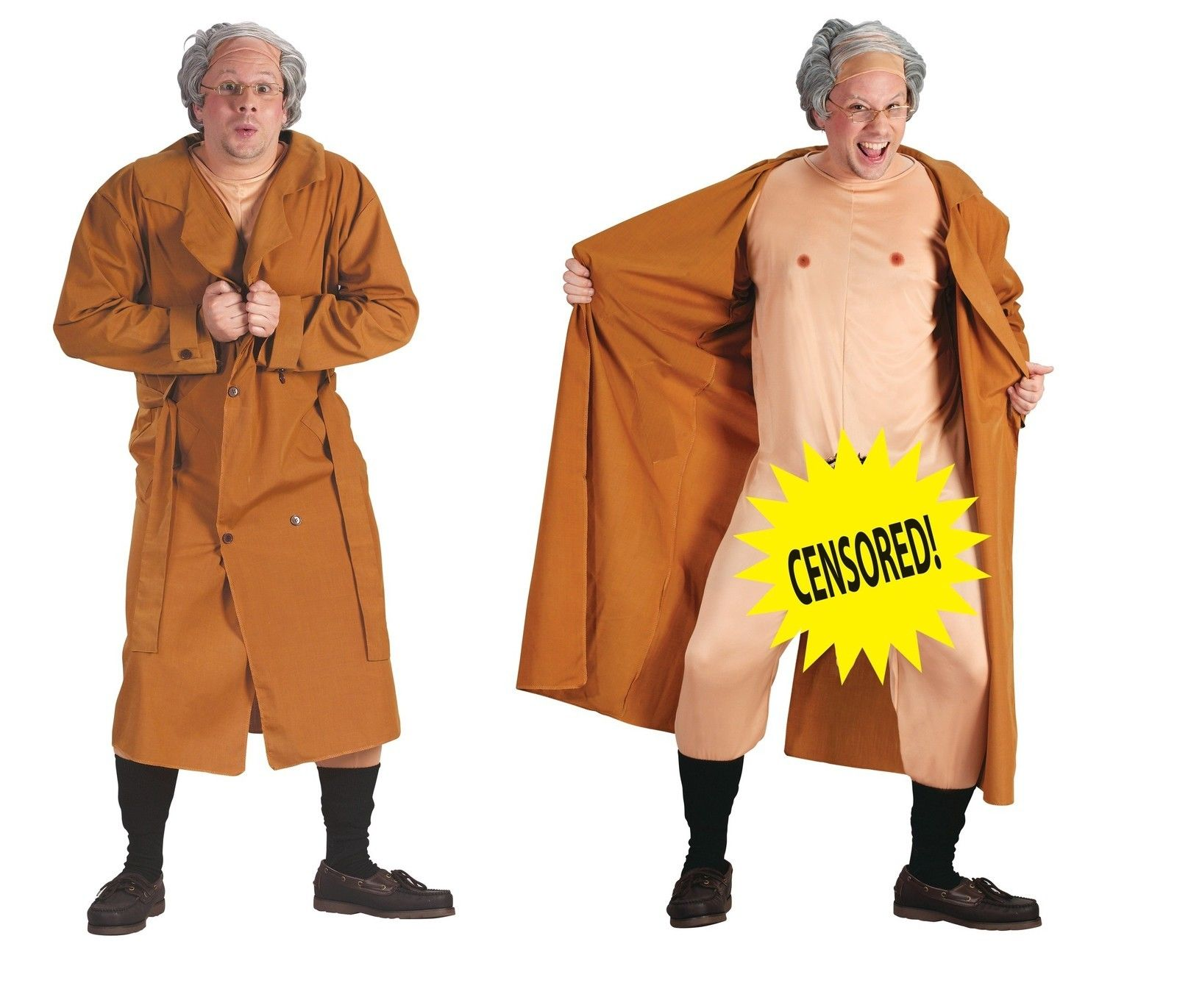 Frank The Flasher Funny Mens Comedy Gag Costume Nude