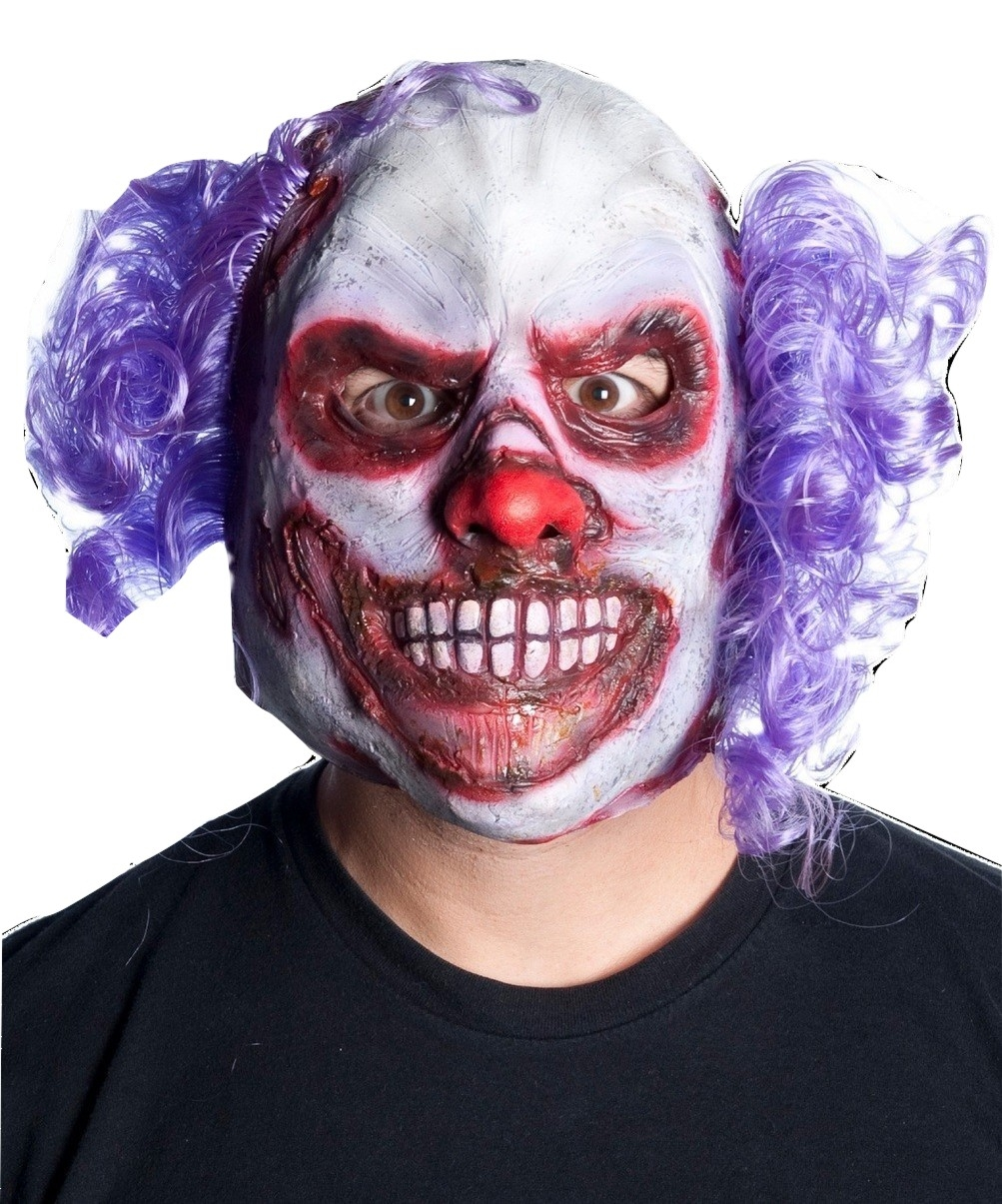 busted bald scary clown mask scary evil clown mask halloween costume accessory