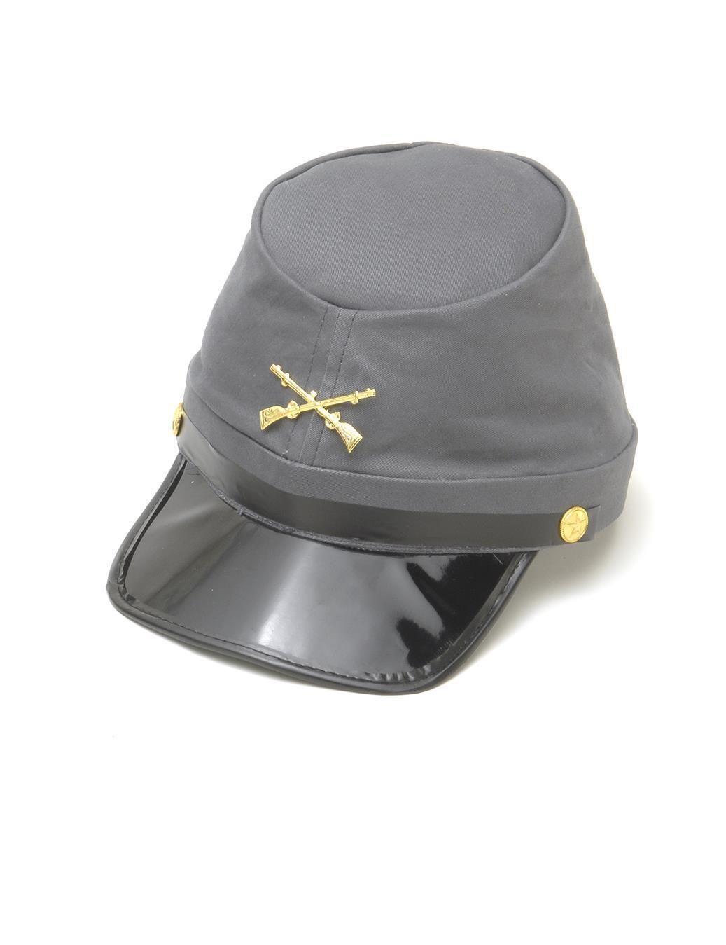 3702c5221e8 Confederate Army Soldier Kepi Hat Civil War Cap Adult Costume Accessory