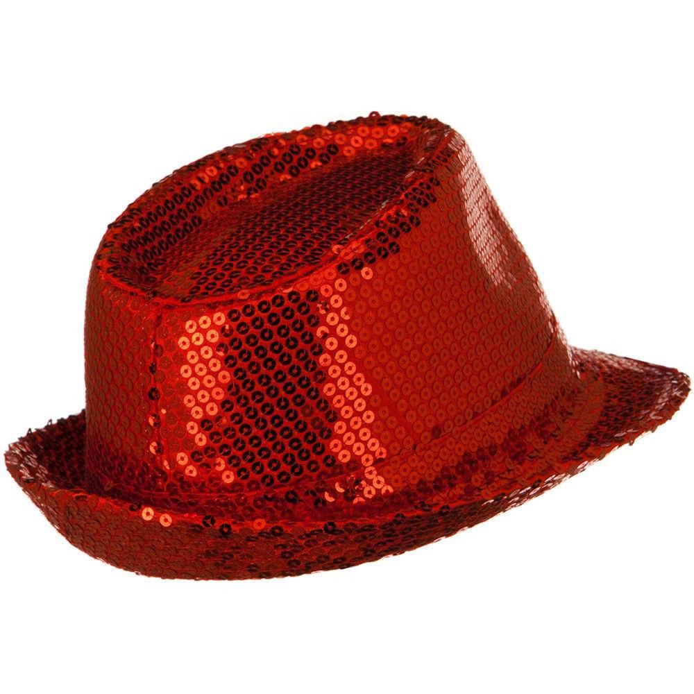 d8e9fe43f84 Parade Sequin Colorful Glitter Gangster Hat Dancer Fedora Costume ...