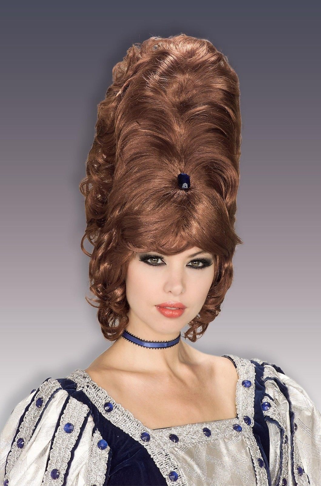 60s 70s Retro Beehive Wig Tall Hair Victorian Queen Western