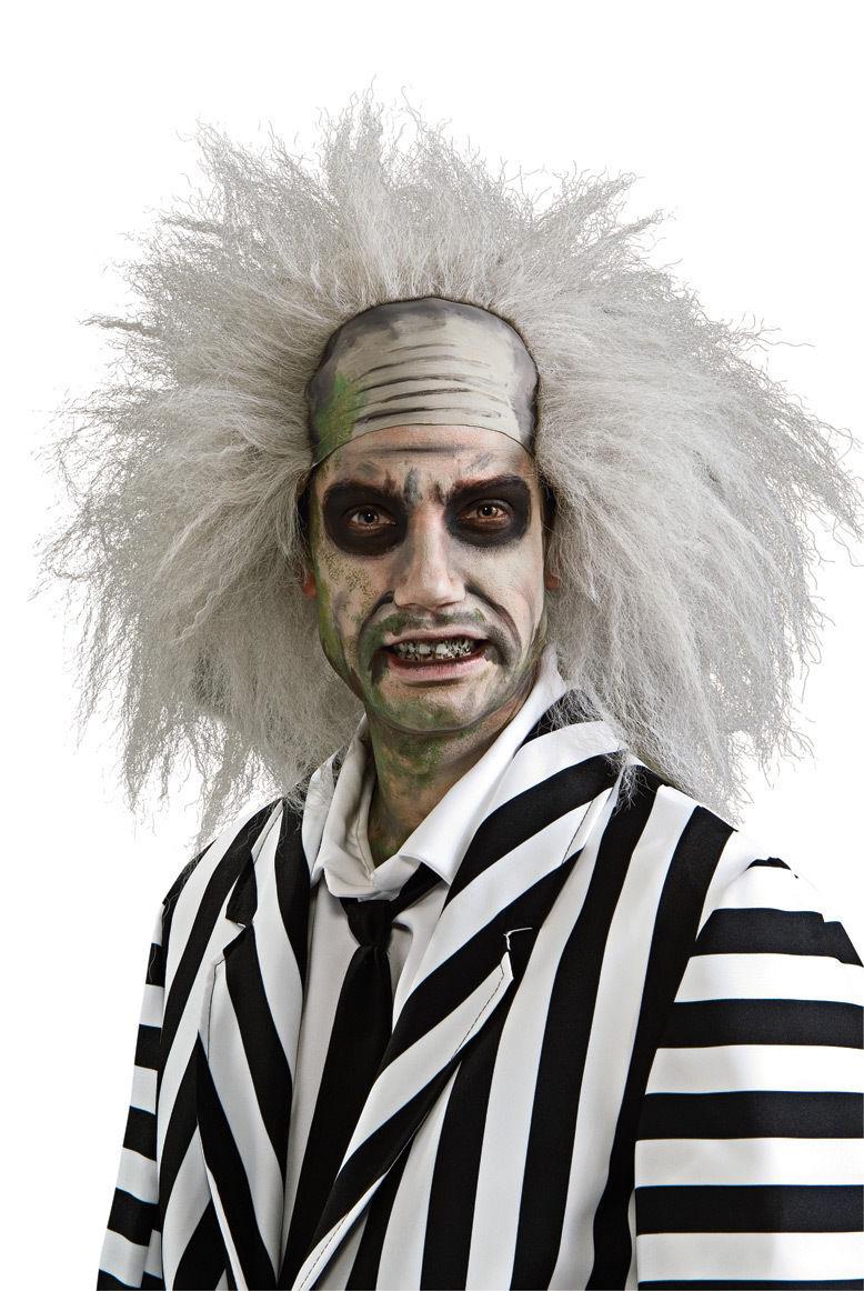 beetlejuice wig mad scientist bald hair zombie adult halloween