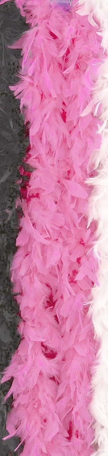 H1 White Feather Boa Fluffy Craft Decoration 6.6 Feet Long