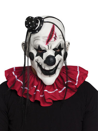 horror circus clown jester scary halloween mask adult - Scary Halloween Masks Images