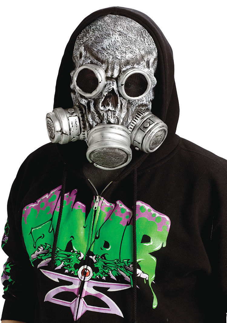 Biohazard Bio Chemical Zombie Horror Gas Mask Halloween Costume Accessory  sc 1 st  eBay & Biohazard Bio Chemical Zombie Horror Gas Mask Halloween Costume ...