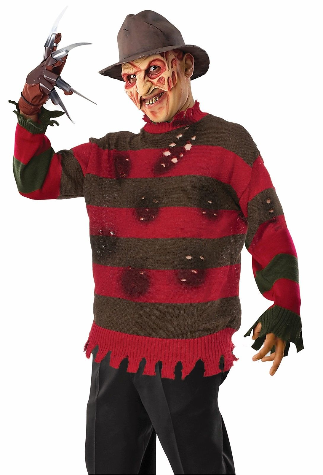 freddy krueger deluxe sweater nightmare elm street mens halloween