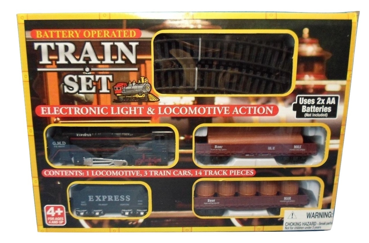 Battery Train Set : Midwood battery operated train set lights pieces of