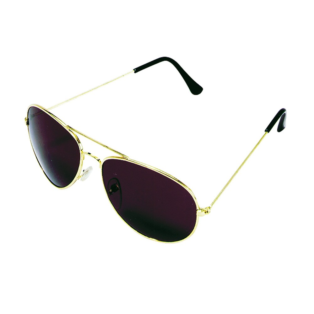 Gold Aviator Cheap Sunglasses Aviators Style Sun Glasses Black Lens Gold Frame