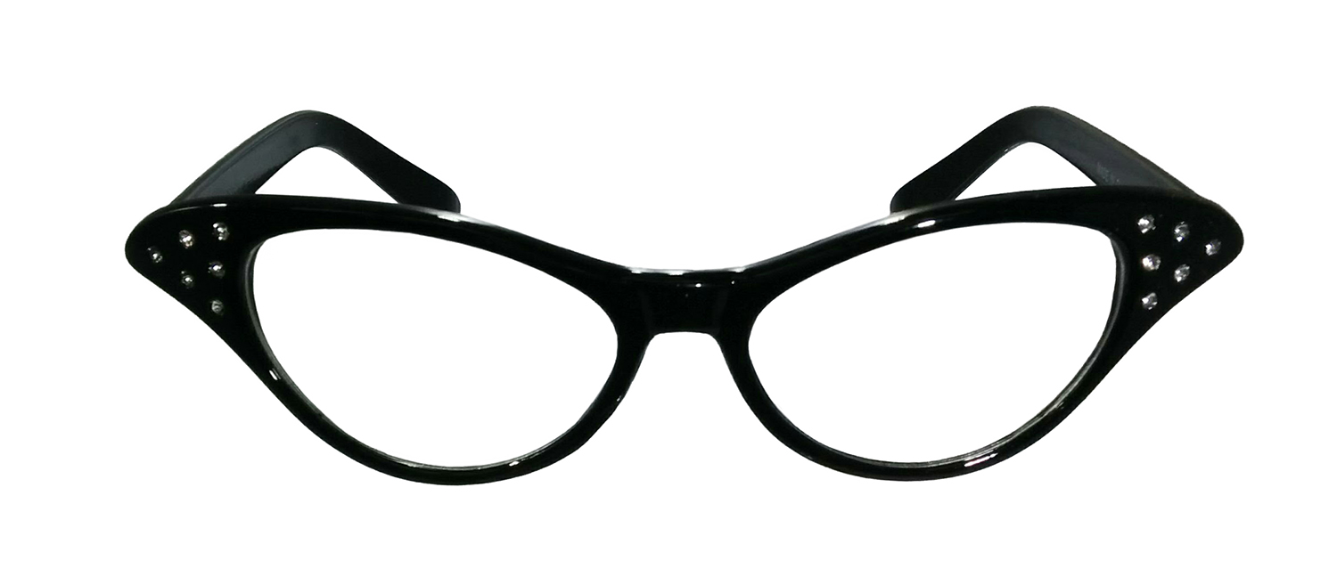 50\'s Cat Eye Glasses Vintage Style Gradient Clear Lens Frame Fancy ...