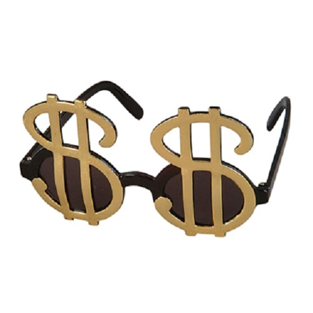 1d3f3780b1d1 Details about Gold Dollar Money   Sign Big Pimp Daddy Sunglasses Glasses  Gangster Costume