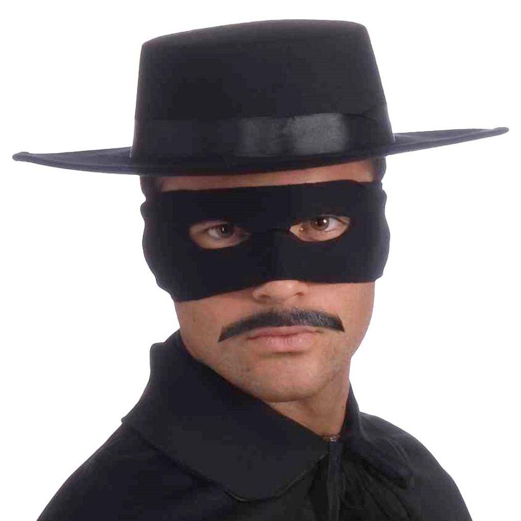 Black Deluxe Spanish Hat Gaucho Zorro Hat Mexican Legend Of Zorro ... eb6f0e21889c