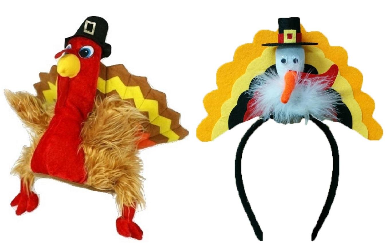 Plush Thanksgiving dinde Chapeau Neuf